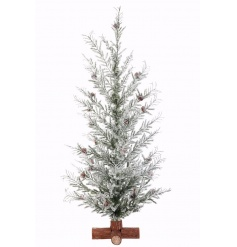 A charming woodland style tree with a snow finish and pinecones. Suitable for many xmas themes.