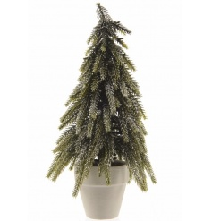 A stylish mini tree with a touch of sparkle. A lovely sized decoration for display.