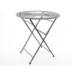 Grey coloured folding table, perfect for a summer garden party