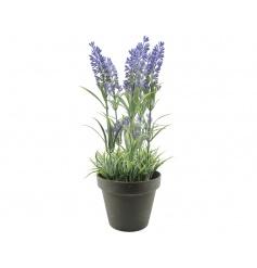 Artificial lavender plant in a chic pot