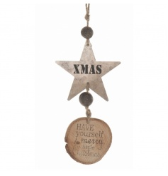 Wooden hanger with a sweet Christmas message