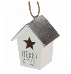 Merry Xmas hanging house decoration with star detail