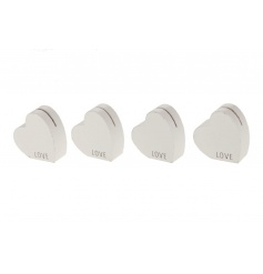 An assortment of 4 cardholders in a heart shape