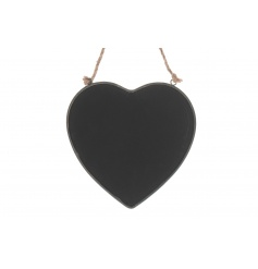 Hanging heart blackboard hung with a rustic style rope