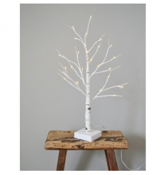 A superior quality light up birch tree for outdoor and indoor use.