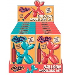 Fun balloon modelling kit in a retro designed gift box