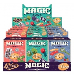 Create hours of fun with this retro magic kit set, 3 assorted