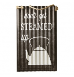A retro style corrugated metal sign ideal for the kitchen and interiors.