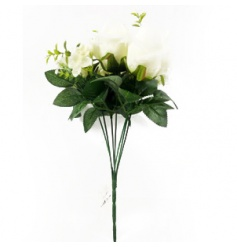 A stylish and elegant artificial bunch of roses. Ideal for a number of themes and decorative uses.