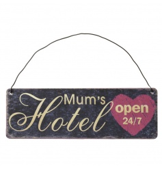 A stylish mum sign with a chic blue and colour design.