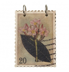 A beautiful stamp style notebook with a glitter floral and leaf design