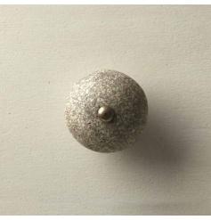 A Distressed Grey Ceramic Furniture Knob