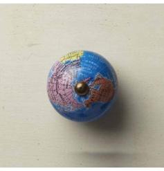 Metal Globe Furniture Knob with a Bright Globe Design