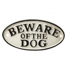 A stylish black and white cast iron sign making a fantastic accessory for the home and garden.