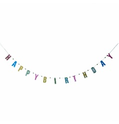 Bright and colourful Happy Birthday garland by Heaven Sends