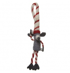 Felt mouse decoration with red and white hanger