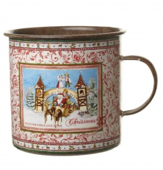 Metal tin with a nordic design, great for  any room in the home to create a festive setting