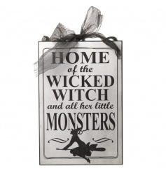 Decorative sign by Heaven Sends with spooky design