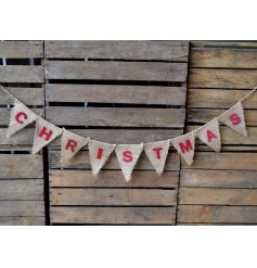 Bunting with the text 'Christmas', a simple yet effective decoration and perfect for both indoors and outdoors