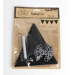 5m length chalkboard style bunting with chalk