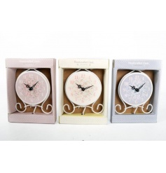 An assortment of 3 clocks in a Ditsy Floral design with gift box