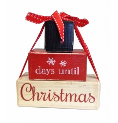Count down to Christmas with this rustic block, perfectly sized for stacking on desks and around the home