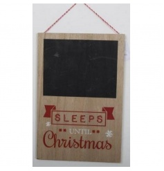 A hanging Christmas countdown plaque with 'Sleeps Until Christmas Sign'.