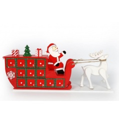Traditional Santa sleigh advent in eye catching festive colours