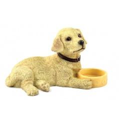 From the Leonardo collection, Golden Labrador with bowl