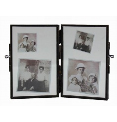 Twin standing photo frame from the popular range of hanging glass frames