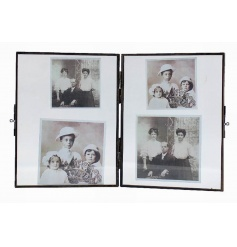 Twin glass picture frame from the popular collection of hanging glass frames