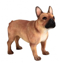 By Leonardo, a French Bulldog figure in a tan colour