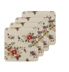 Set of 4 stylish coasters in a Summer Daisy design