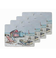 Set of 4 placemats by Leonardo in a Sandy Bay design