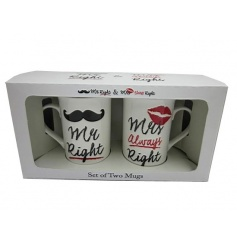 Humorous china mug set from Leonardo with popular script