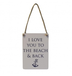 Nautical style hanging mini dangler sign with sweet quote