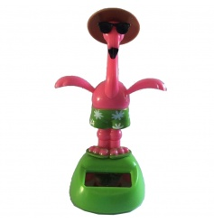 Fun and quirky dancing flamingo solar pal in gift box
