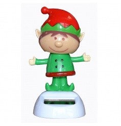 Adorable elf Christmas Solar Pal making a fun decoration and great stocking filler!