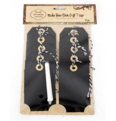 Rustic style chalkboard tags with chalk, the new latest craze