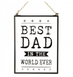 A rustic style glass plaque for your dad, perfect for birthdays, fathers day and other occasions