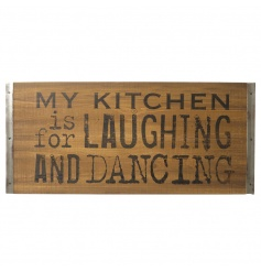 Humorous wooden sign by Heaven Sends with distressed style