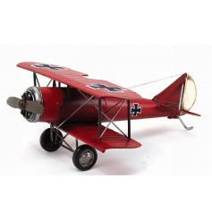 Decorative retro airplane ornament made from a tin material by Leonardo