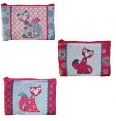 Chic coin purse in an assortment of 3 patchwork designs