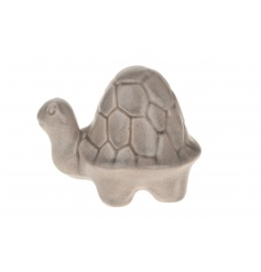 A decorative turtle ornament in a chic grey colour