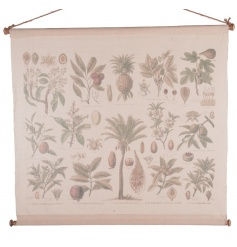 Extra large wall art tapestry piece with flower print