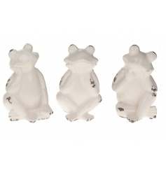 Cute frog ceramic ornaments in an antique style