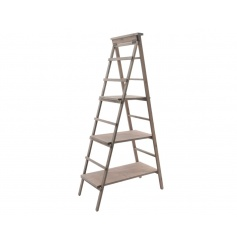 Use this large wooden ladder to merchandise your product range. The shelves can easily be moved to fit various objects