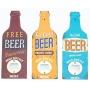 An assortment of three retro beer bottle openers