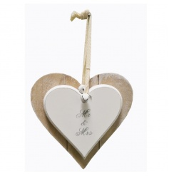 Chic double heart decorations with popular wedding text