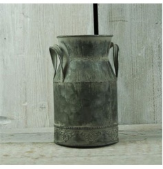 A rustic style milk churn, perfect for displaying flowers